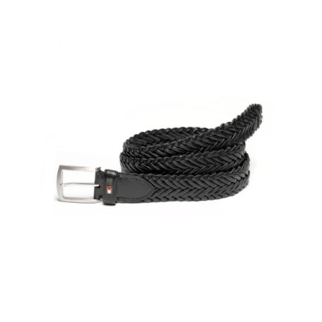 Image for LEATHER BRAIDED BELT from Tommy Hilfiger USA