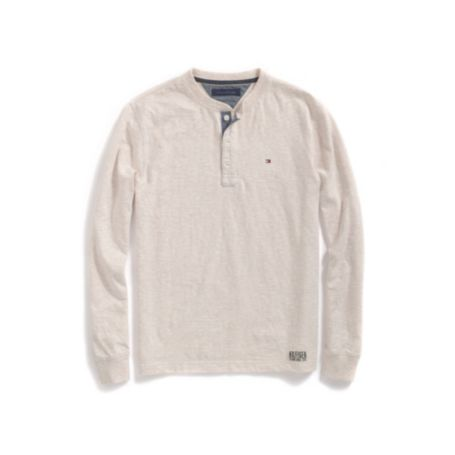 Image for LONG SLEEVE SOLID HENLEY TEE from Tommy Hilfiger USA