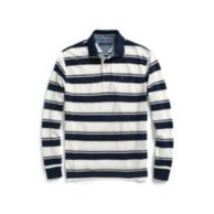 REGULAR FIT PIQUE STRIPE LONG SLEEVE POLO $54.50