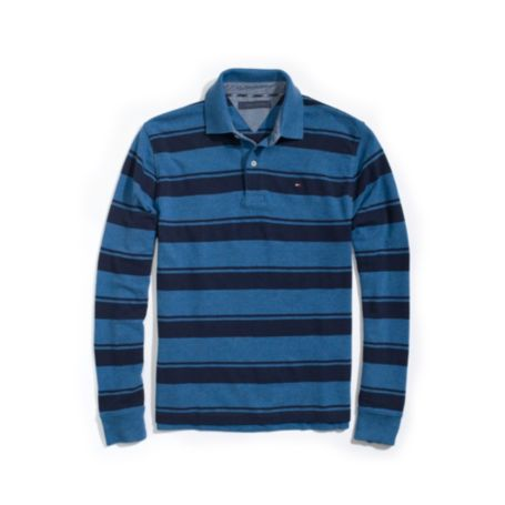 Image for REGULAR FIT PIQUE STRIPE LONG SLEEVE POLO from Tommy Hilfiger USA