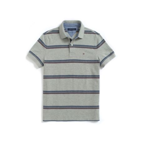 Image for CUSTOM FIT OXFORD STRIPE PIQUE POLO from Tommy Hilfiger USA