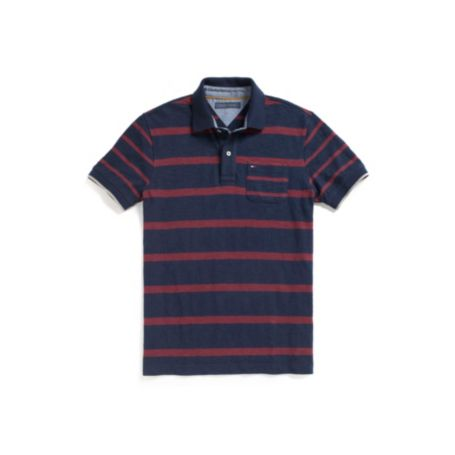 Image for CUSTOM FIT POCKET STRIPE POLO from Tommy Hilfiger USA