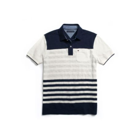 Image for CUSTOM FIT POCKET MULTI STRIPE POLO from Tommy Hilfiger USA