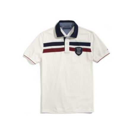 Image for CUSTOM FIT PIQUE WOVEN COLLAR POLO from Tommy Hilfiger USA
