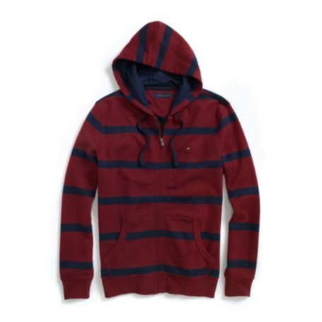 Image for FULL ZIP STRIPE HOODIE from Tommy Hilfiger USA