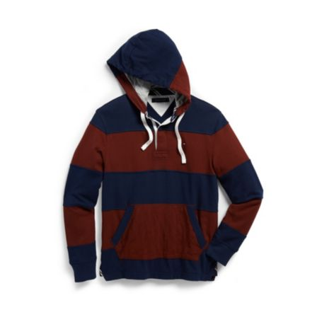 Image for LONG SLEEVE RUGBY STRIPE HOODIE from Tommy Hilfiger USA