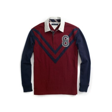 Image for CUSTOM FIT LONG SLEEVE CHEVON STRIPE RUGBY from Tommy Hilfiger USA