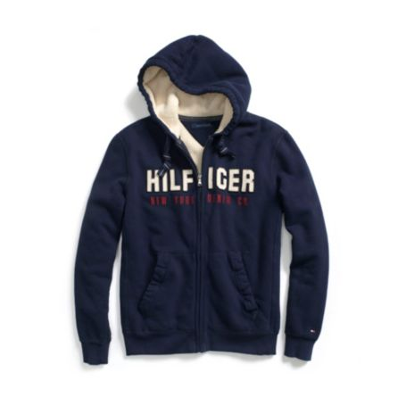 Image for FULL ZIP SHERPA HOODIE from Tommy Hilfiger USA