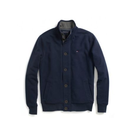 Image for FULL BUTTON MOCK NECK FLEECE from Tommy Hilfiger USA