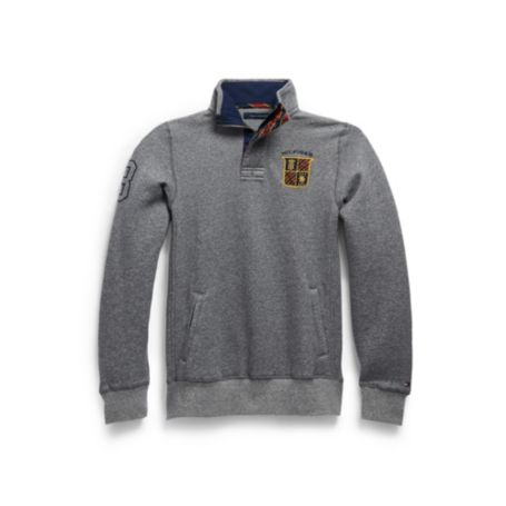 Image for HALF ZIP MOCK PATCH FLEECE from Tommy Hilfiger USA