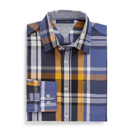 Image for CLASSIC FIT LARGE PLAID SHIRT from Tommy Hilfiger USA