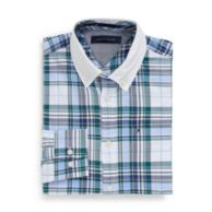 CUSTOM FIT OXFORD PLAID SHIRT $39.99