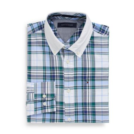 Image for CUSTOM FIT OXFORD PLAID SHIRT from Tommy Hilfiger USA