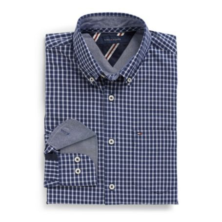 Image for CUSTOM FIT SMALL CHECK SHIRT from Tommy Hilfiger USA