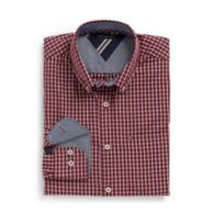 CUSTOM FIT SMALL CHECK SHIRT $36.99