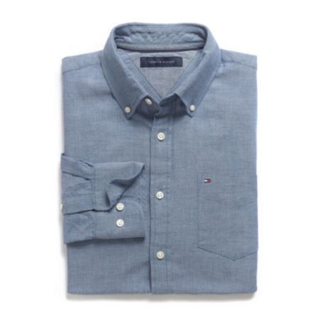 Image for CUSTOM FIT HERRINGBONE SHIRT from Tommy Hilfiger USA
