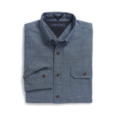 Image for CUSTOM FIT CHAMBRAY CAMP SHIRT from Tommy Hilfiger USA