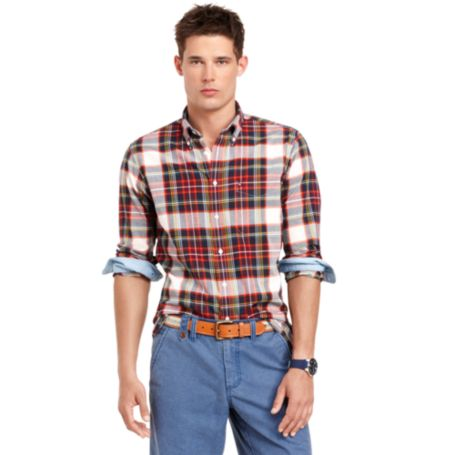 Image for CUSTOM FIT MADRAS SHIRT from Tommy Hilfiger USA