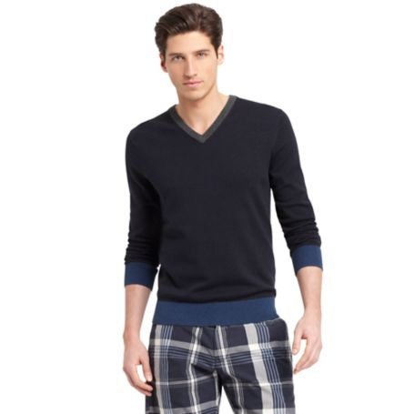 Image for TIPPED VNECK SWEATER from Tommy Hilfiger USA