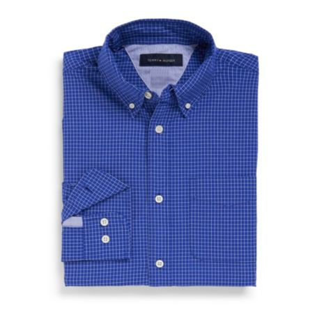 Image for CUSTOM FIT 100'S COTTON CHECK SHIRT from Tommy Hilfiger USA