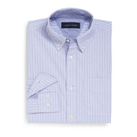 Image for CUSTOM FIT 100'S 2-PLY COTTON STRIPED SHIRT from Tommy Hilfiger USA