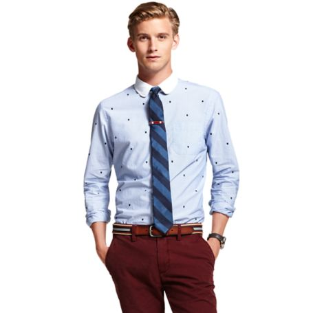 Image for COTTON POPLIN LOGO SHIRT from Tommy Hilfiger USA