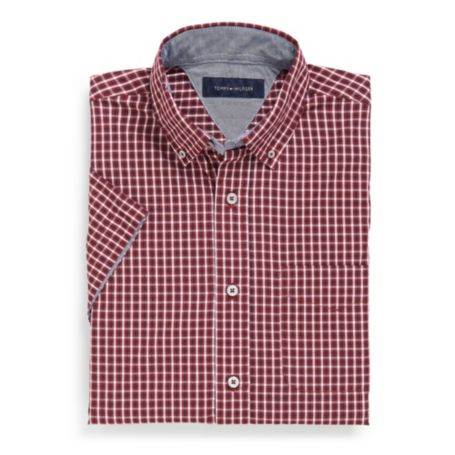 Image for SHORT SLEEVE PLAID SHIRT from Tommy Hilfiger USA