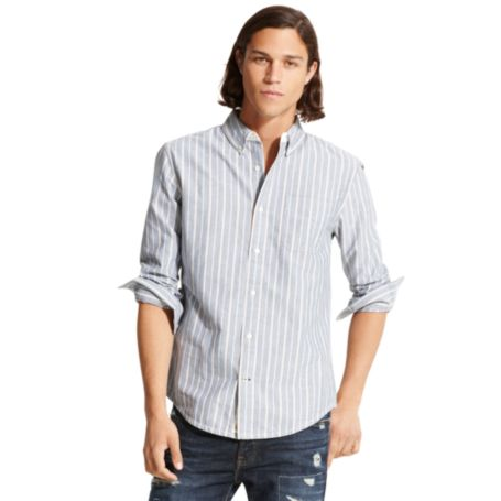 Image for CUSTOM FIT STRIPED OXFORD SHIRT from Tommy Hilfiger USA