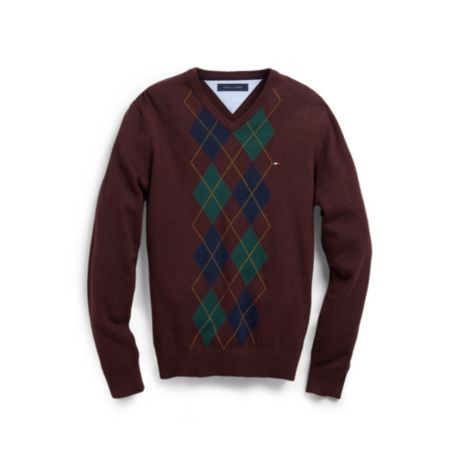 Image for ARGYLE VNECK SWEATER from Tommy Hilfiger USA