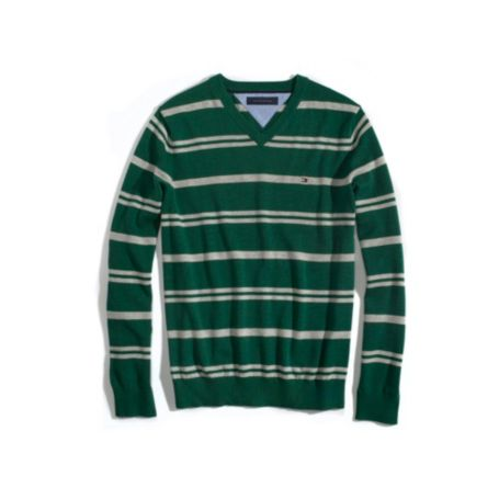 Image for MULTI STRIPE V NECK SWEATER from Tommy Hilfiger USA