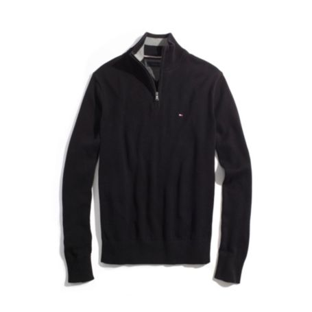 Image for SOLID ZIP MOCK NECK SWEATER from Tommy Hilfiger USA