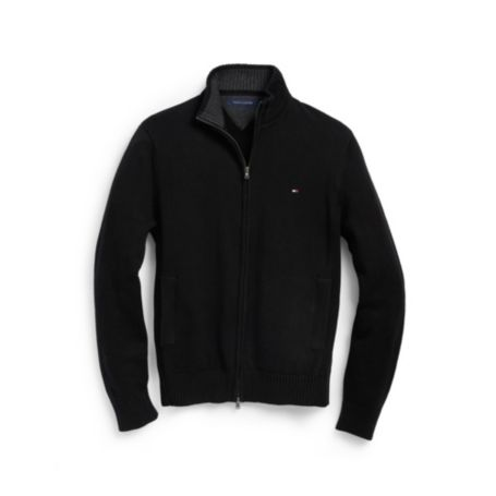 Image for SOLID FULL ZIP MOCK SWEATER from Tommy Hilfiger USA