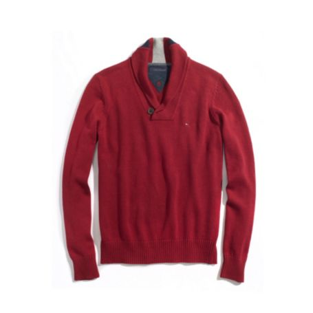 Image for SHAWL NECK SWEATER from Tommy Hilfiger USA