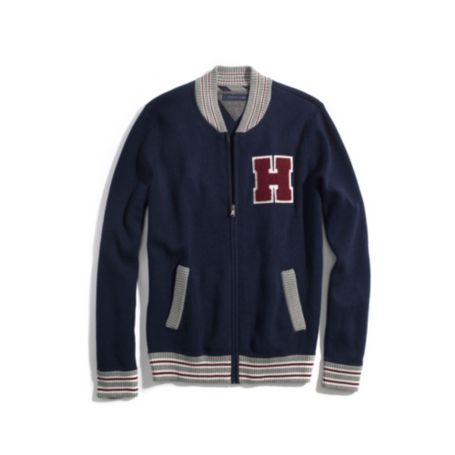 Image for BASEBALL ZIP CARDIGAN from Tommy Hilfiger USA