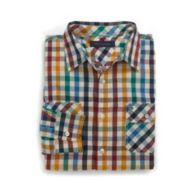 CUSTOM FIT ROLLUP PLAID SHIRT $39.99