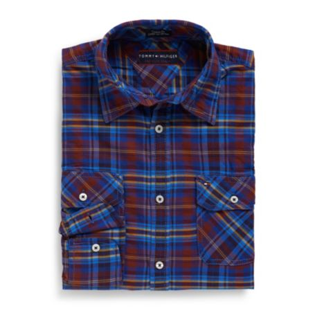 Image for CUSTOM FIT ROLLUP PLAID SHIRT from Tommy Hilfiger USA
