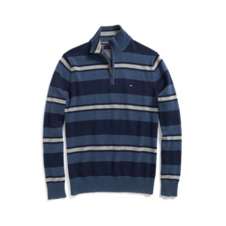 Image for MULTI STRIPE HALF ZIP SWEATER from Tommy Hilfiger USA