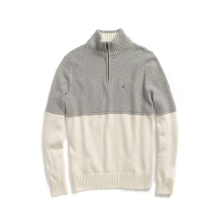 Image for COLORBLOCK HALF ZIP SWEATER from Tommy Hilfiger USA