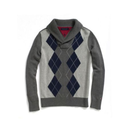 Image for ARGYLE SHWAL COLLAR SWEATER from Tommy Hilfiger USA