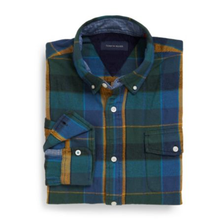 Image for FLANNEL PLAID SHIRT from Tommy Hilfiger USA