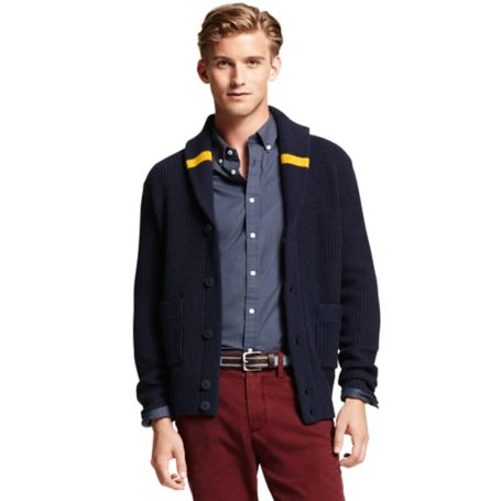 Image for SHAWL COLLAR BUTTON CARDIGAN from Tommy Hilfiger USA