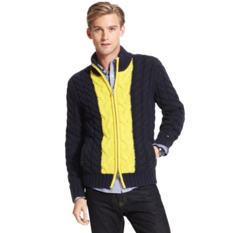 Image for COLORBLOCKED FULL ZIP SWEATER from Tommy Hilfiger USA