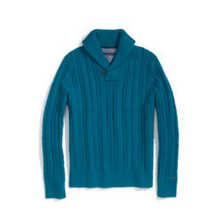 Image for NOVELTY SHAWL SWEATER from Tommy Hilfiger USA