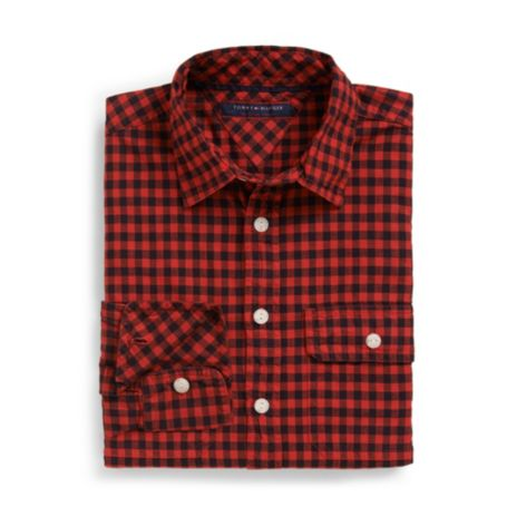Image for 2 POCKET CHECK SHIRT from Tommy Hilfiger USA