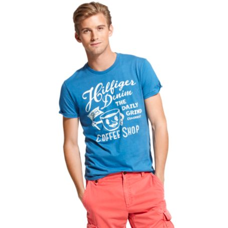 Image for COFFEE SHOP HILFIGER DENIM TEE from Tommy Hilfiger USA