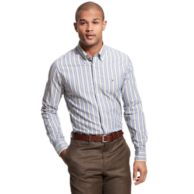 CUSTOM FIT STRIPE SHIRT $89.00