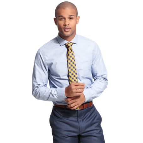 Image for NEW YORK FIT SOLID SHIRT from Tommy Hilfiger USA