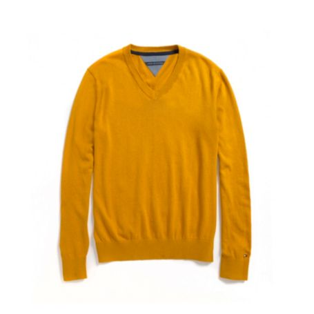 Image for COTTON CASHMERE PIQUE VNECK SWEATER from Tommy Hilfiger USA