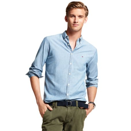 Image for NEW YORK FIT DENIM SHIRT from Tommy Hilfiger USA