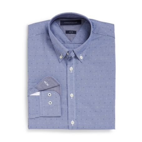 Image for SLIM FIT PRINTED DOT SHIRT from Tommy Hilfiger USA